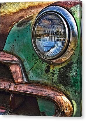 Vintage Chevy 3 Canvas Print by Nancy  de Flon