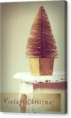 Vintage Christmas Treee Canvas Print by Amanda Elwell