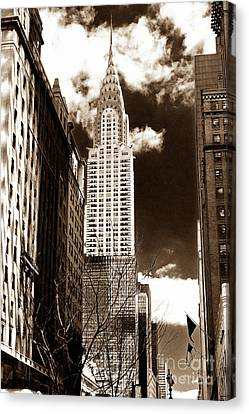 Vintage Chrysler Building Canvas Print by John Rizzuto