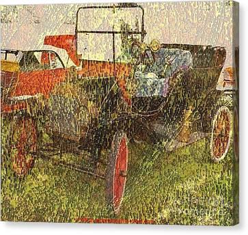Vintage Classic Automobile Canvas Print by PainterArtist FIN