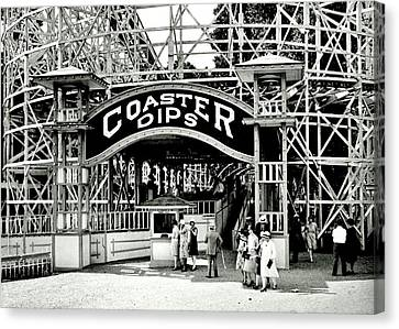 Vintage Coaster Canvas Print by Benjamin Yeager
