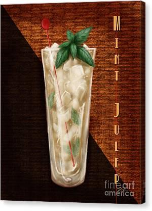 Vintage Cocktails-mint Julep Canvas Print by Shari Warren