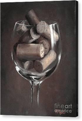 Vintage Corks Canvas Print by Viktoria K Majestic