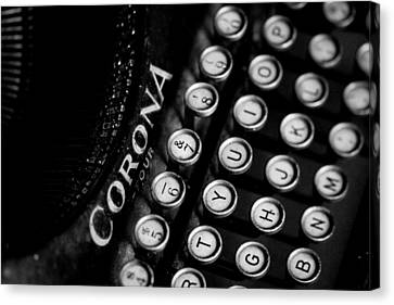 Vintage Corona Four Typewriter Canvas Print by Jon Woodhams