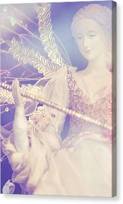 Vintage Doll. Merry Christmas Canvas Print by Jenny Rainbow