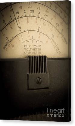 Vintage Electric Meter Canvas Print by Edward Fielding