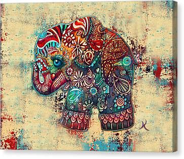 Vintage Elephant Canvas Print by Karin Taylor