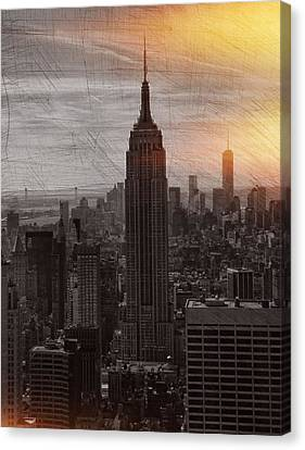 Vintage Empire State Building Canvas Print by Dan Sproul
