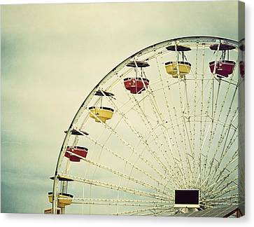 Vintage Ferris Wheel Canvas Print by Kim Hojnacki