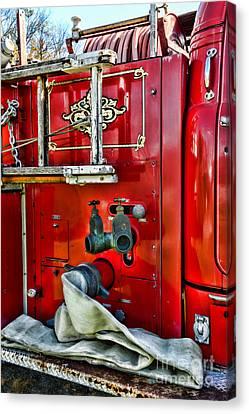 Vintage Fire Truck Canvas Print by Paul Ward