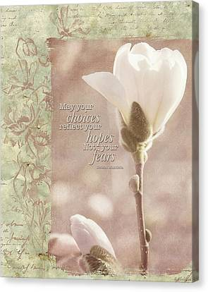 Vintage Flower Art - Reflect Your Hopes Canvas Print by Jordan Blackstone