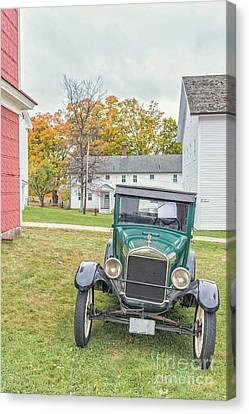 Vintage Ford Model A Car Canvas Print by Edward Fielding