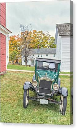 Vintage Ford Model A Car Canvas Print by Edward Fielding