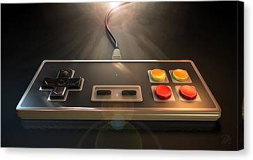 Vintage Gaming Controller Canvas Print by Allan Swart