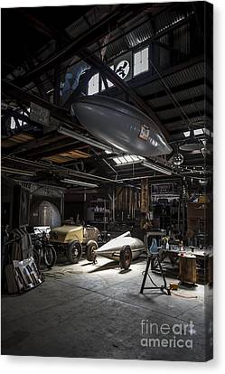Vintage Garage - Metal And Speed Canvas Print by Holly Martin