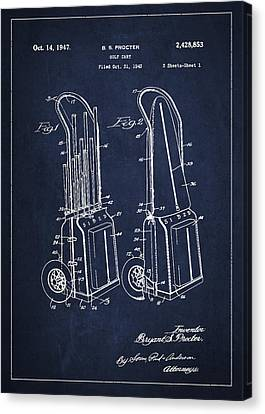 Vintage Golf Cart Drawing From 1943 Canvas Print by Aged Pixel
