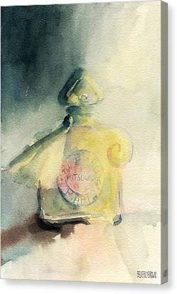 Vintage Guerlain Mitsouko Perfume Bottle Canvas Print by Beverly Brown Prints
