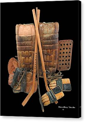Vintage Hockey Equipment #2 Canvas Print by Spencer Hall