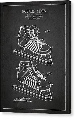 Vintage Hockey Shoe Patent Drawing From 1935 Canvas Print by Aged Pixel