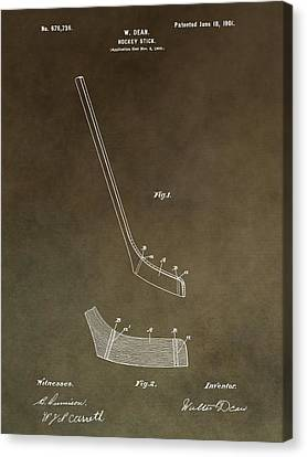 Vintage Hockey Stick Patent Canvas Print by Dan Sproul