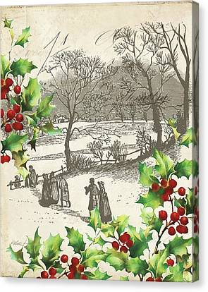 Vintage Holiday I Canvas Print by Katie Pertiet