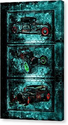 Vintage Hotrods Canvas Print by Amanda Struz