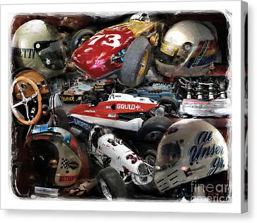 Vintage Indy Canvas Print by Tom Griffithe