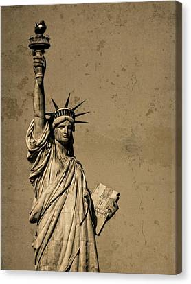 Vintage Lady Liberty Canvas Print by Dan Sproul