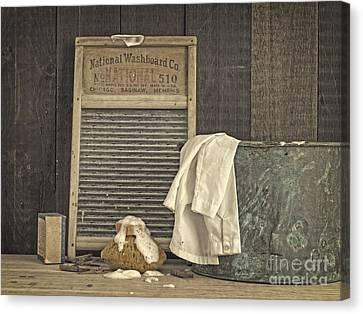 Vintage Laundry Room II By Edward M Fielding Canvas Print by Edward Fielding