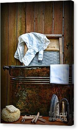 Vintage Laundry Room  Canvas Print by Paul Ward