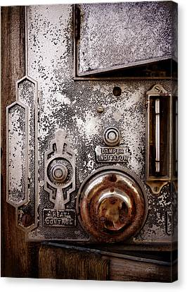 vintage-machinery photograph The Incubator Canvas Print by Ann Powell