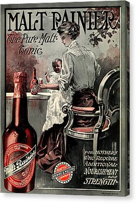 Vintage Malt Rainer Advertisement Canvas Print by Mountain Dreams