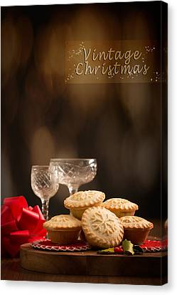Vintage Mince Pies Canvas Print by Amanda And Christopher Elwell