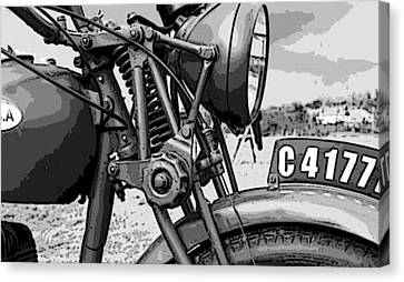 Vintage Motorcycle Canvas Print by Marvin Blaine