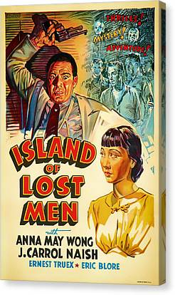 Vintage Movie Poster - Island Of Lost Men1933 Canvas Print by Mountain Dreams