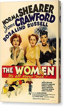 Vintage Movie Poster - The Women 1939 Canvas Print by Mountain Dreams
