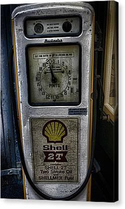 Vintage Petrol Pump Canvas Print by Martin Newman