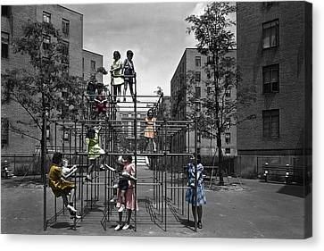 Vintage Playground Canvas Print by Andrew Fare