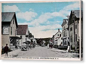 Vintage Postcard Of Wolfeboro New Hampshire Canvas Print by Valerie Garner