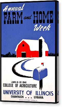 Vintage Poster - Farm And Home Week Canvas Print by Benjamin Yeager