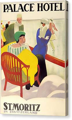 Vintage Poster 1936 Canvas Print by Mountain Dreams