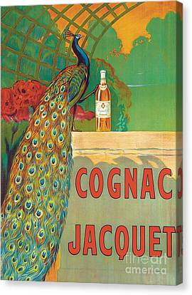 Vintage Poster Advertising Cognac Canvas Print by Camille Bouchet
