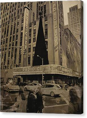 Vintage Radio City Music Hall Canvas Print by Dan Sproul
