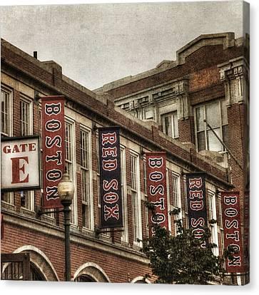 Vintage Red Sox - Fenway Park Canvas Print by Joann Vitali
