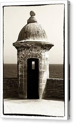 Vintage San Juan Guard Tower Canvas Print by John Rizzuto