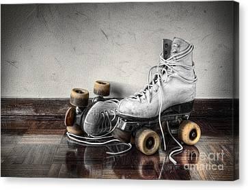 Vintage Skates Canvas Print by Carlos Caetano