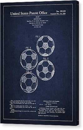 Vintage Soccer Ball Patent Drawing From 1964 Canvas Print by Aged Pixel