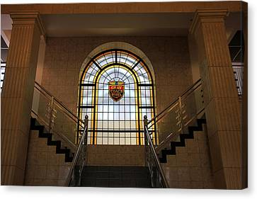 Vintage Stained Glass 1 Canvas Print by Andrew Fare