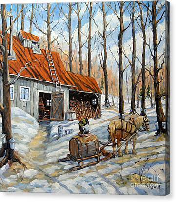 Vintage Sugar Shack By Prankearts Canvas Print by Richard T Pranke
