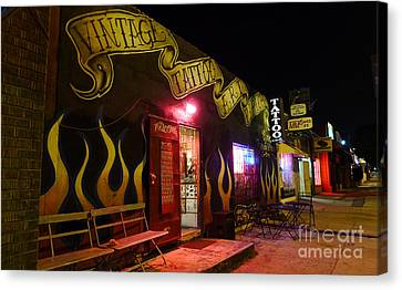Vintage Tattoo Parlour Canvas Print by Nina Prommer
